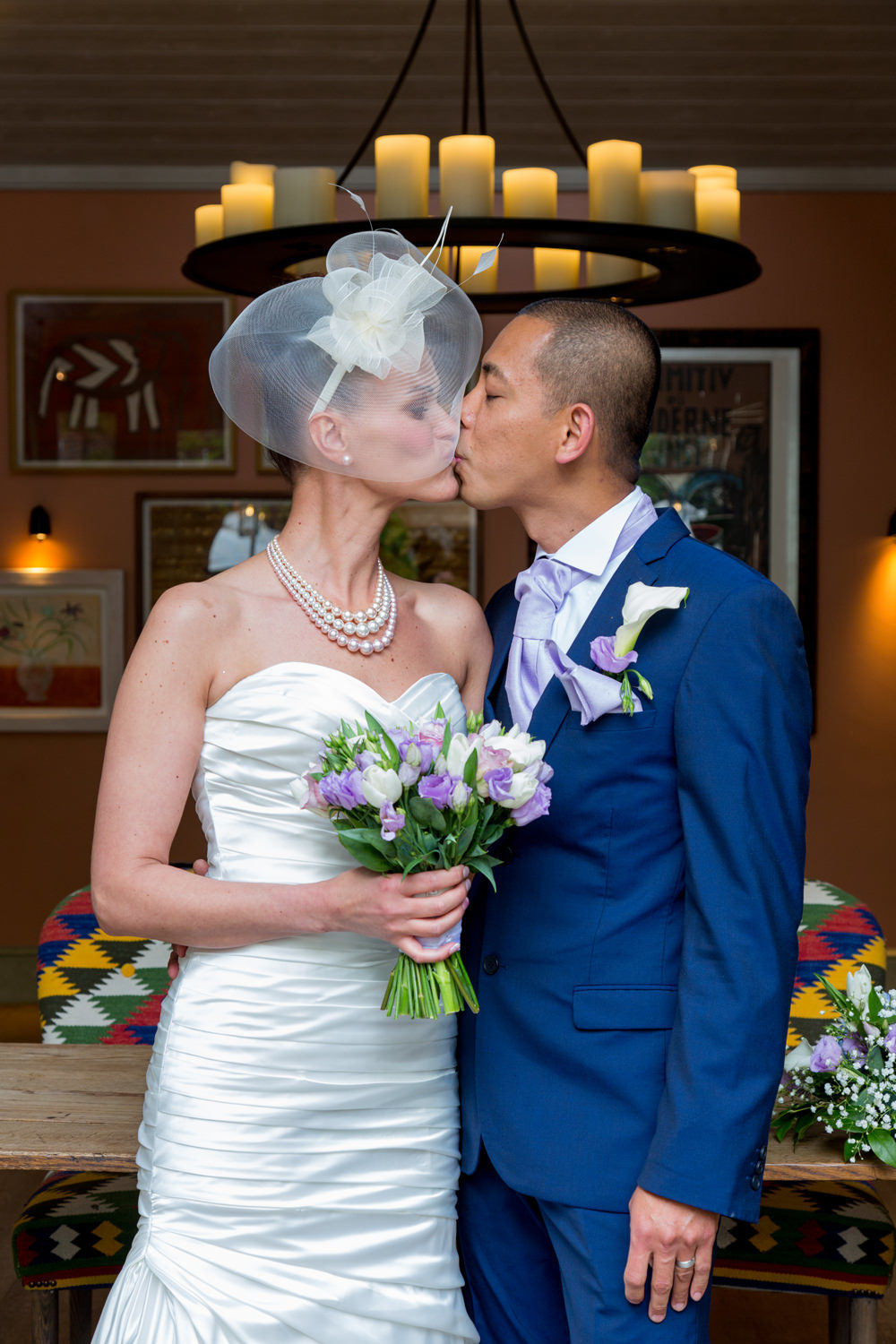 Bride and Groom - First Kiss
