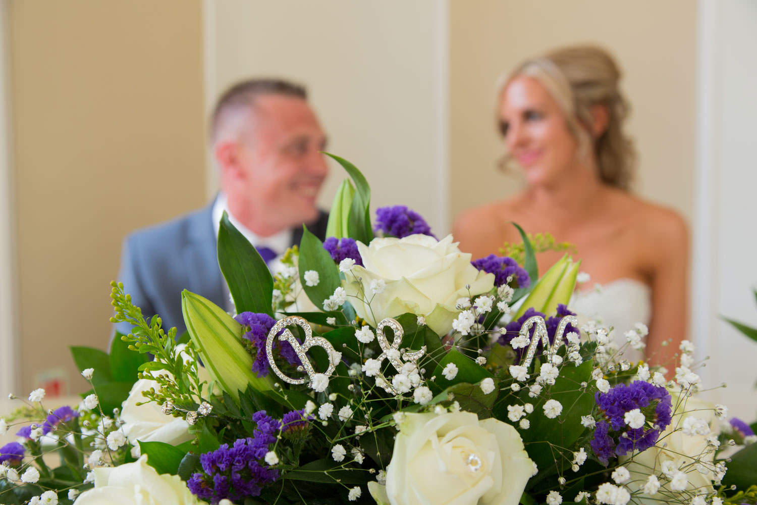 Bride and Groom flower decorations