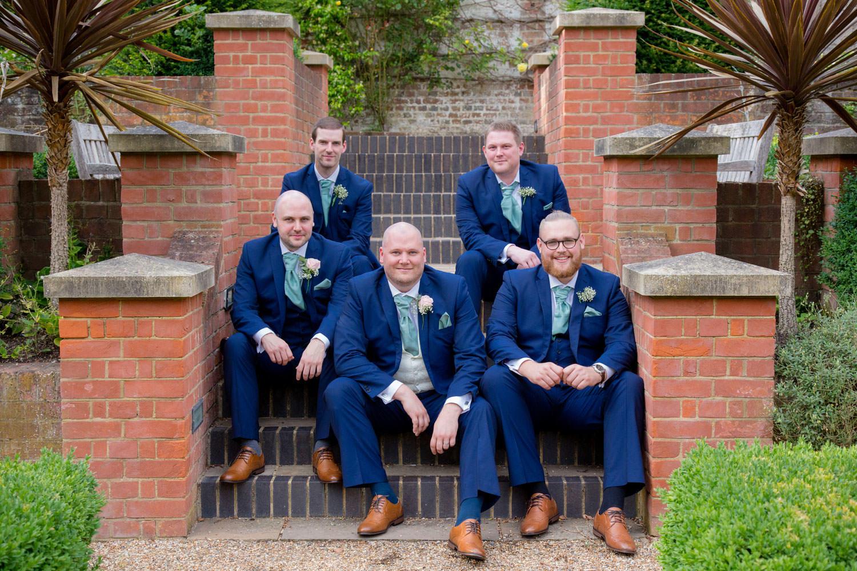 Groomsmen wedding ready