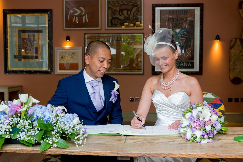 Wedding Registry Signing