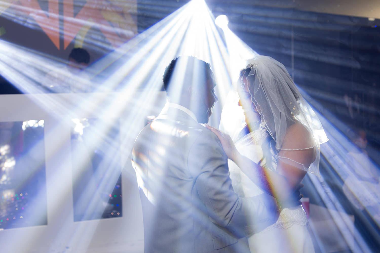 Wedding first dance light show